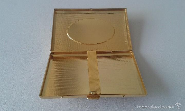 Coleccionismo: Preciosa pitillera metálica dorada -- Con filigranas en el frontal -- - Foto 6 - 57910893