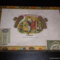 Coleccionismo: CAJA DE PUROS / ROMEO Y JULIETA / HABANA / 10 ROMEO. Lote 57911007
