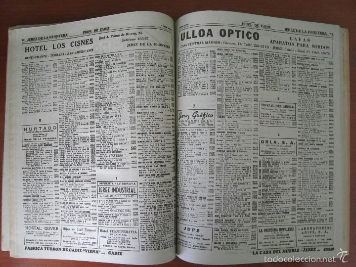Coleccionismo: ANTIGUA GUÍA TELEFÓNICA DE CÁDIZ Y PROVINCIA - AÑO 1963 - Foto 7 - 57926443