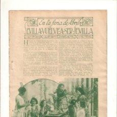 Coleccionismo: AÑO 1934 RECORTE PRENSA LA FERIA DE ABRIL SEVILLA. Lote 57927180