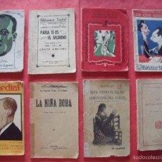 Coleccionismo: TEATRO.-ALVAREZ QUINTERO.-JOAQUIN MONTERO.-LOPE DE VEGA.-ENRIQUE SUAREZ DE DEZA.-CARLOS ARNICHES.. Lote 57939193