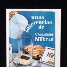 Coleccionismo: NESTLÉ. RECETAS. UNAS SUGERENCIAS DE CHOCOLATES. SELECCIONES DEL READER'S DIGEST. DICIEMBRE 1964. Lote 57966317