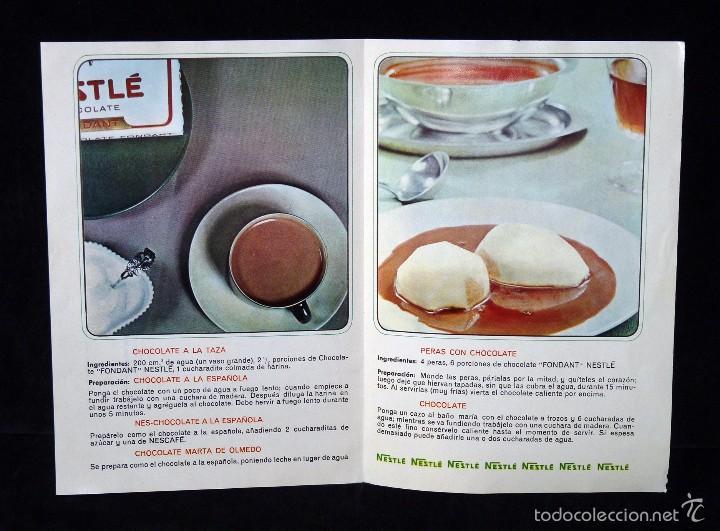 Coleccionismo: NESTLÉ. RECETAS. UNAS SUGERENCIAS DE CHOCOLATES. SELECCIONES DEL READERS DIGEST. DICIEMBRE 1964 - Foto 2 - 57966317