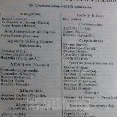Colecionismo: VILLALPANDO CAÑIZO CASTROVERDE DE CAMPOS CERECINOS COTANES VILLALONSO ,, COMERCIOS... AÑO1910(REFGF). Lote 58020274