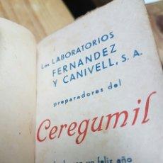 Coleccionismo: AGENDA CEREGUMIL 1942. Lote 58272238