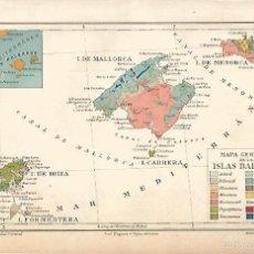 Coleccionismo - LAMINA ESPASA 9703: Mapa geologico de las Islas Baleares - 58286965