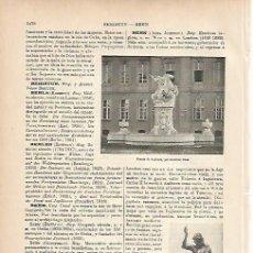 Coleccionismo: LAMINA ESPASA 9878: ESCULTURAS HECHAS POR F. BEHN. Lote 58287178