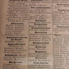 Colecionismo: VEZDEMARBAN VILLALAZAN VILLALONSO VILLALUBE VILLARDONDIEGO VILLALPANDO CAÑIZO ,, AÑO 1905 (REFHX). Lote 58288793