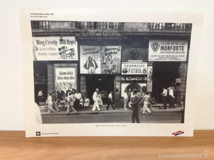 6 LAMINAS / FOTOGRAFIA - ANY 1962 - LA BARCELONA DELS 60 - EL PERIODICO (R) (Coleccionismo - Laminas, Programas y Otros Documentos)