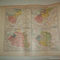 Coleccionismo: LAMINA ESPASA 10453: MAPAS DE LA HISTORIA DE POLONIA. Lote 58462828