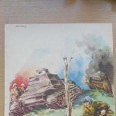 Coleccionismo: ANTIGUA LAMINA DE LA GUERRA CIVIL ESPAÑOLA, AROZTEGUI 1937. INTENDENCIA.. Lote 58493353