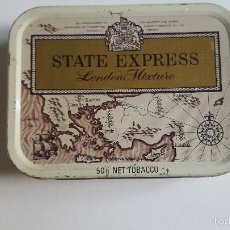 Coleccionismo: LATA DE TABACO DE PIPA STATE EXPRESS 50G. Lote 58546664