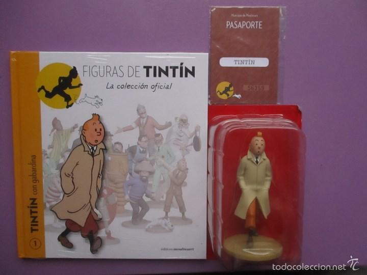 FIGURA DE TINTIN+FASCICULO+PASAPORTE, LA COLECCION OFICIAL Nº 1 !!!!NUEVO SIN ABRIR!!! (Coleccionismo - Varios)