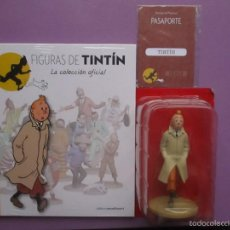Coleccionismo: FIGURA DE TINTIN+FASCICULO+PASAPORTE, LA COLECCION OFICIAL Nº 1 !!!!NUEVO SIN ABRIR!!!. Lote 205157891