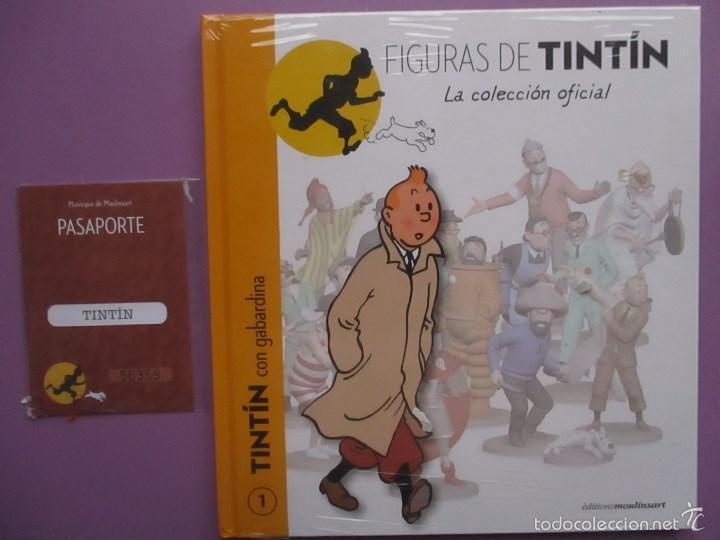 Coleccionismo: FIGURA DE TINTIN+FASCICULO+PASAPORTE, LA COLECCION OFICIAL Nº 1 !!!!NUEVO SIN ABRIR!!! - Foto 3 - 205157891