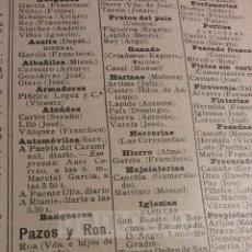 Colecionismo: PADRON DODRO ,, AÑO 1925 (REFIG) ( RIANJO **CONSULTAR**). Lote 58587391