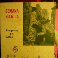 Coleccionismo: PROGRAMA SEMANA SANTA TARRAGONA-1972 HDAD.JESUS NAZARENO 28 PAG. Lote 58597849