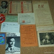 Coleccionismo: LOTE DE PAPEL ANTIGUO-PUBLICIDAD, TARJETA, QUINIELAS-CUENTO- UN TOTAL DE 12 ARTICULOS DE CALIDAD-VER. Lote 58600766