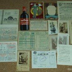 Coleccionismo: LOTE DE PAPEL ANTIGUO-PUBLICIDAD, TARJETA, QUINIELAS-TROQUELADO TOTAL DE 16 ARTICULOS DE CALIDAD-VER. Lote 58605141