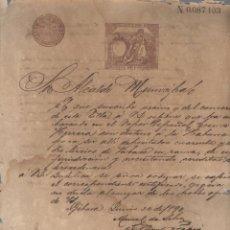 Coleccionismo: GIBARA, CUBA. 1890. TABACO. SOLICITUD CERTIFICADO PROCEDENCIA TRASLADO A HABANA. VAPOR COSME HERRERA. Lote 58618912