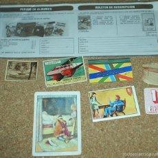 Coleccionismo: PAPEL ANTIGUO,LOTE DE 8 PIEZAS MUY BUENAS,CROMOS,PEGATINA,PUBLI SPIROU,PUNTO, ORIGINALES. Lote 58620210