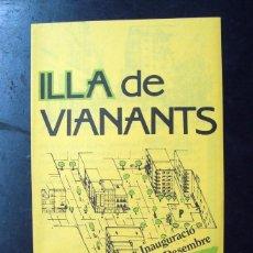 Coleccionismo: FOLLETO PROGRAMA DIPTIC - INAUGURACIO ILLA VIANANTS EL CENTRE - TARRAGONA. Lote 58719051