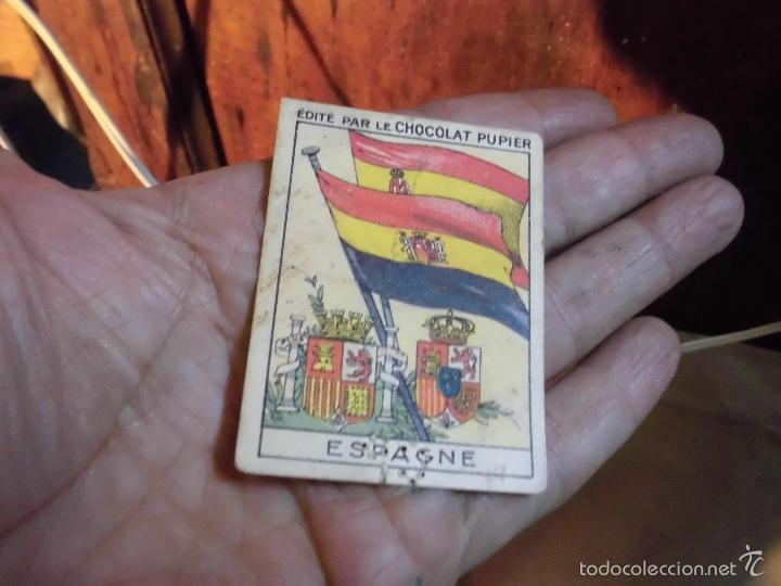 Coleccionismo: pupier republica española cromo escudo antiguo chocolate bandera españa republicana y nacional - Foto 2 - 58908440