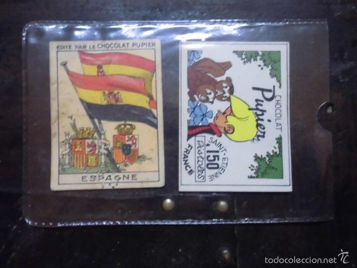 Coleccionismo: pupier republica española cromo escudo antiguo chocolate bandera españa republicana y nacional - Foto 3 - 58908440