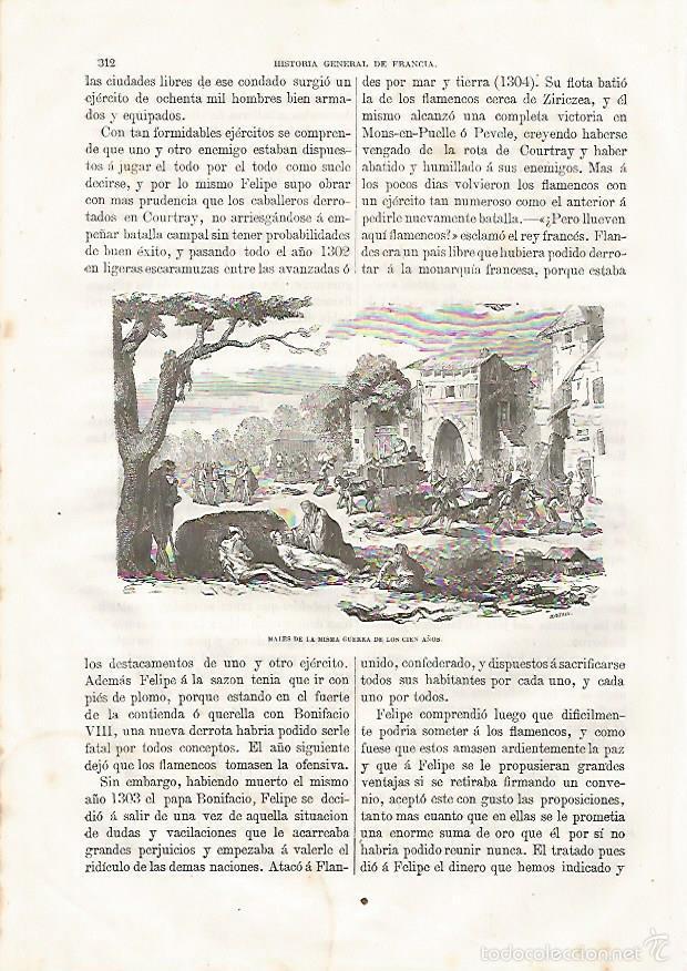 LAMINA 3451: GUERRA DE LOS CIEN AOS (Coleccionismo - Laminas, Programas y Otros Documentos)