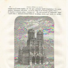 Coleccionismo: LAMINA 3491: CATEDRAL DE REIMS. Lote 57624859