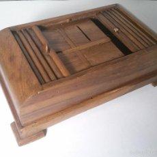 Coleccionismo - TABAQUERA CIGARRERA DE MADERA - 59586675