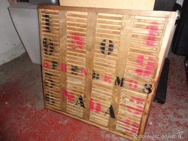 Coleccionismo: Cuadro sobre madera pintada 70 X 70 cm. 1936 1939 - Foto 2 - 60005675