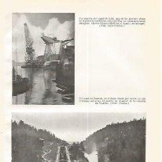 Coleccionismo: LAMINA GEOGRAFIA 0270: CANAL DE KIEL Y CANAL DE BANDAK. Lote 60240333