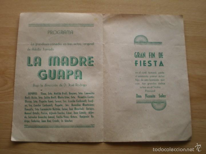 Coleccionismo: PROGRAMA DE TEATRO, HOMENAJE A MATILDE BRELL, ORGANIZA LA SOCIEDAD DE SOCORROS MUTUOS - Foto 2 - 60308379
