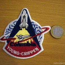 Coleccionismo: PARCHE BORDADO / EMBROIDERED PATCH - TRANSBORDADOR COLUMBIA STS 1 YOUNG CRIPPEN. Lote 60520803