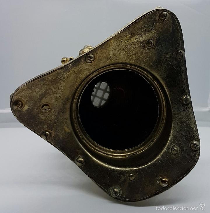 Coleccionismo: Reproducción de antigua escafandra de buzo en bronce, cobre y cristal . - Foto 7 - 96927243