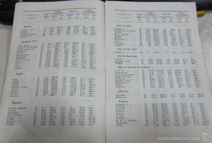 Coleccionismo: TARIFA DE LOS PRECIOS DE VENTA DE CIGARROS DE LA ISLA DE CUBA. 1969. TABACALERA S.A. 13 PAGINAS - Foto 3 - 136067932