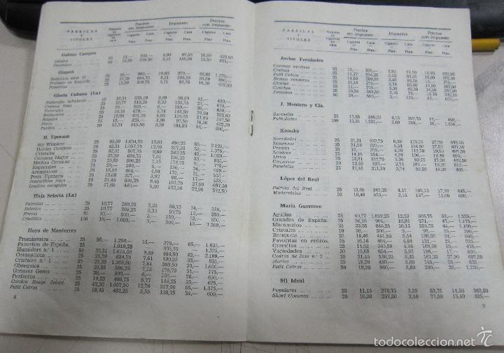 Coleccionismo: TARIFA DE LOS PRECIOS DE VENTA DE CIGARROS DE LA ISLA DE CUBA. 1969. TABACALERA S.A. 13 PAGINAS - Foto 4 - 136067932