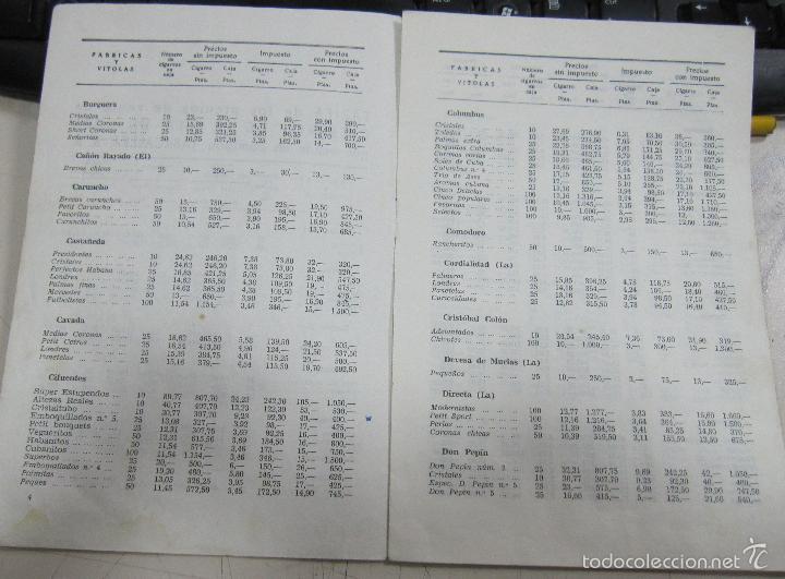 Coleccionismo: TARIFA DE LOS PRECIOS DE VENTA DE CIGARROS DE LA ISLA DE CUBA. 1969. TABACALERA S.A. 13 PAGINAS - Foto 5 - 136067932
