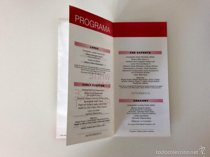 Coleccionismo: Firma original de MIKHAIL BARYSHNIKOV sobre programa de mano de hace más de 15 años - Foto 6 - 60696175