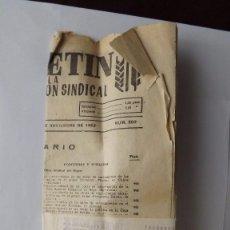 Coleccionismo: BOLETÍN DEL SINDICATO AGRARIO 1963. Lote 61112967