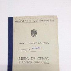 Coleccionismo: LIBRO DE CENSO- DELEGACION DE INDUSTRIA 1963. Lote 61174311
