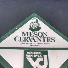 Coleccionismo: POSAVASOS MESÓN CERVANTES EN SALAMANCA. Lote 61279159