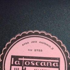 Coleccionismo: POSAVASOS LA TOSCANA DE ZAMORA. Lote 61423459