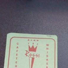 Coleccionismo: POSAVASOS CAFETERÍA ROSSI DE ZAMORA. Lote 61426939