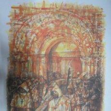 Coleccionismo: LAMINA SALIDA DEL CRISTO DE LA BUENA MUERTE ZAMORA ANTONIO PEDRERO,42 X 30.. Lote 61817284