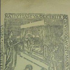 Coleccionismo: XILOGRAFIA SIGLO XVII CASA GUASP MALLORCA.FELICITACIÓN NAVIDAD MINISTERIO INFORMACIÒN TURISMO 1966.. Lote 62025188