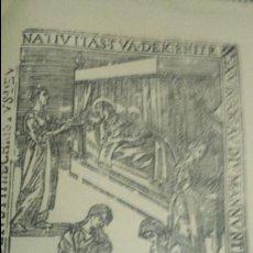 Coleccionismo: XILOGRAFIA SIGLO XVII CASA GUASP MALLORCA. FELICITACIÓN NAVIDAD MINISTERIO INFORMACIÓN TURISMO 1966. Lote 62025740