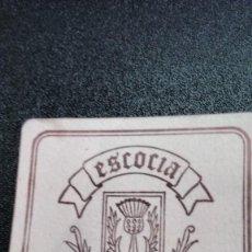 Coleccionismo: POSAVASOS ESCOCIA DE MADRID. Lote 62067432