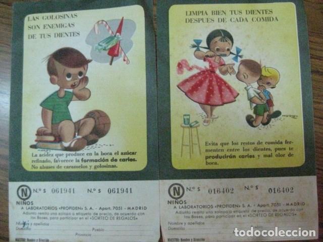 1953 - DOS LAMINAS RARA Y ANTIGUA PUBLICIDAD EN PAPEL DE PROFIDEN CON MUCHO ENCANTO (Coleccionismo - Laminas, Programas y Otros Documentos)